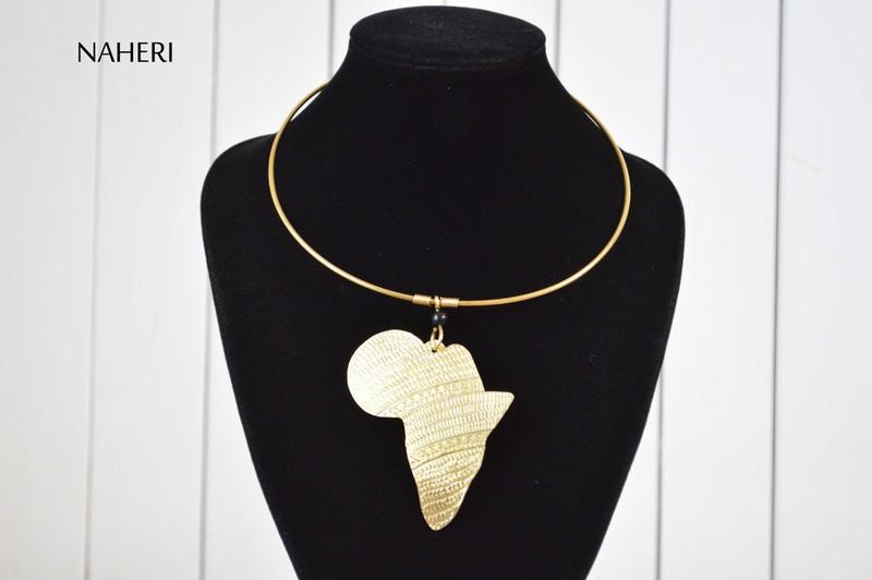 "African Mask Bone Pendant Necklace Congo 22/"""