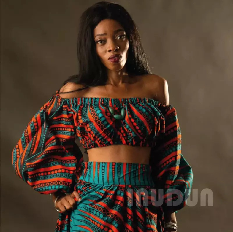 Off The Shoulder Ankara Cotton African Print Crop Top