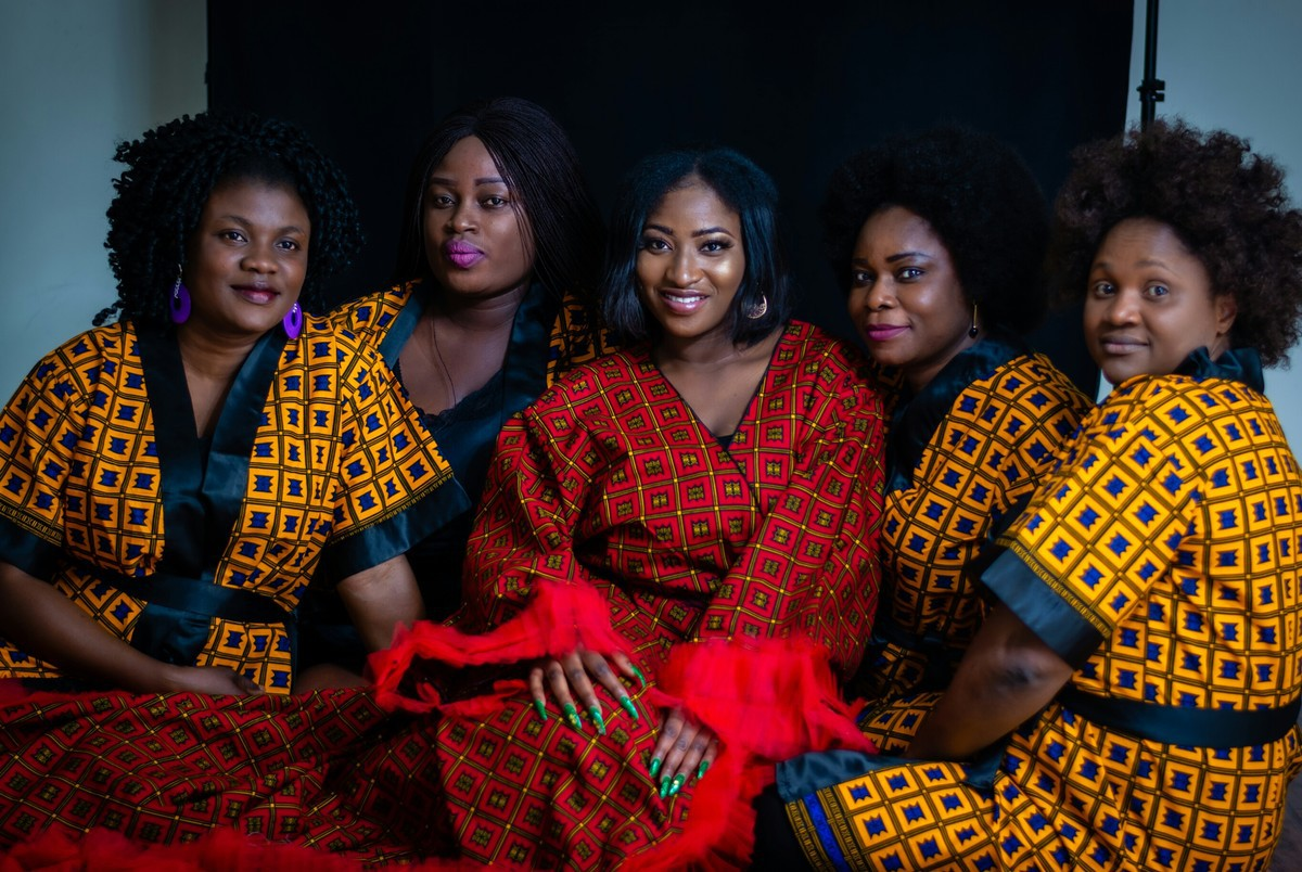 Ankara Prints Bridal Robes By Mofe African Fashion Kimonos Afrikrea