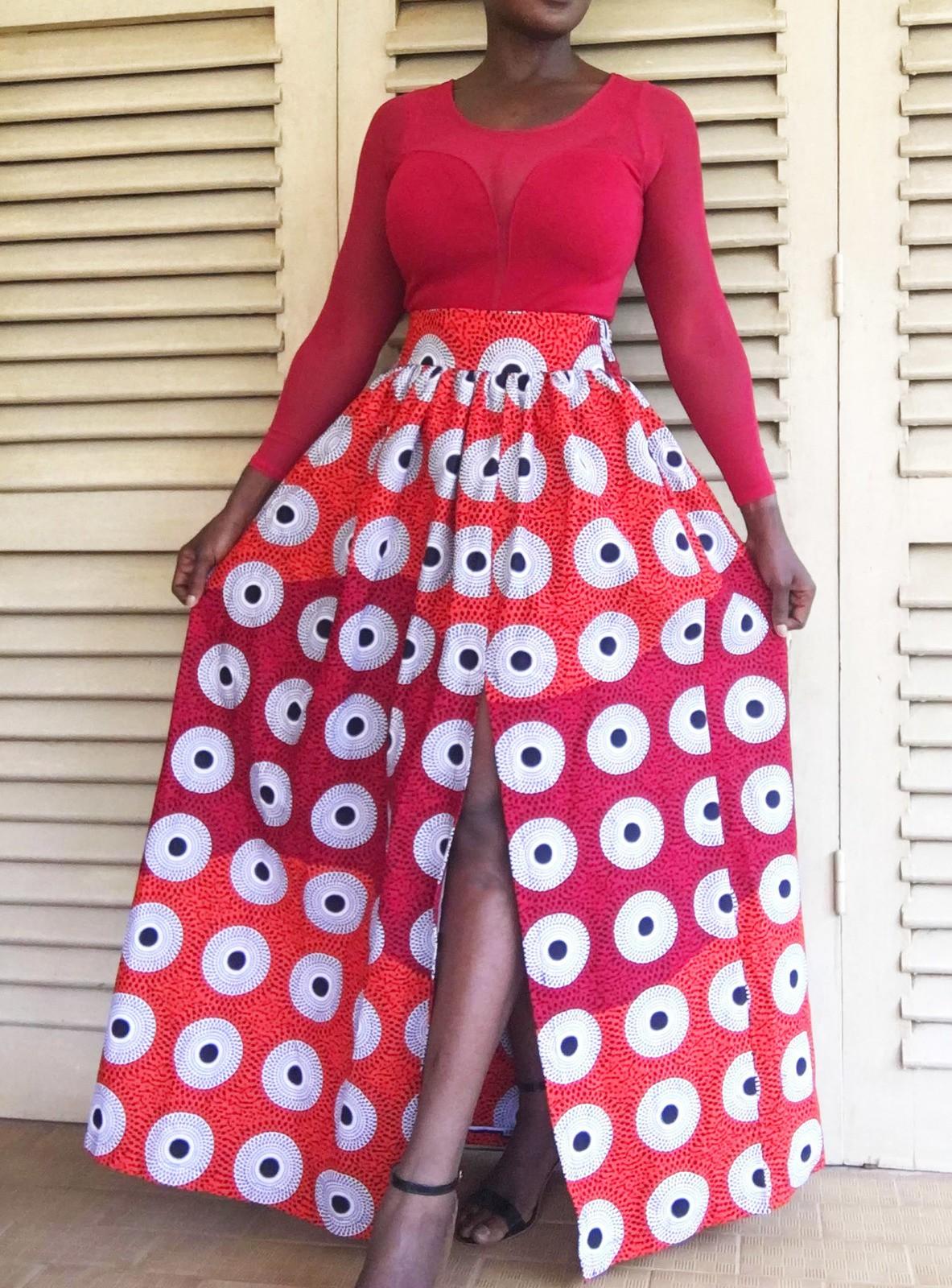 Orange Target By Dakrol Long Skirts Afrikrea
