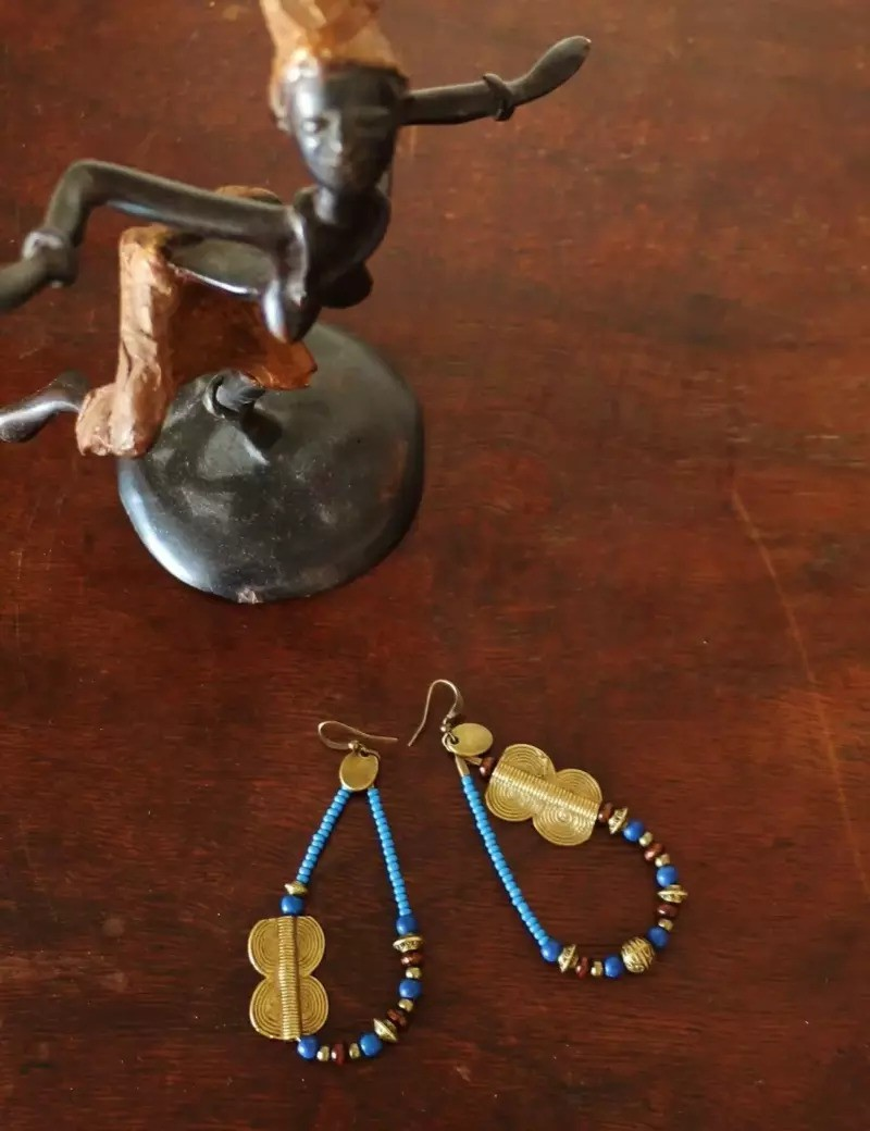 Baule Brass Earrings