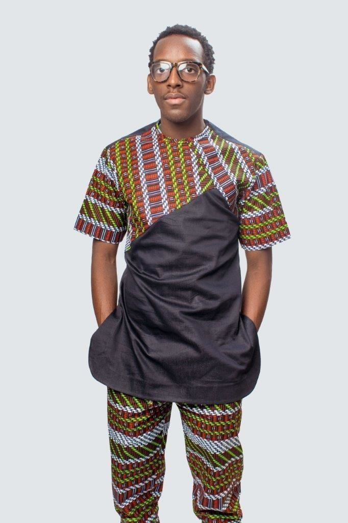 Men Ankara outfit African men Matching pants set African men 2 piece African men fashion African print men suit African men clothing