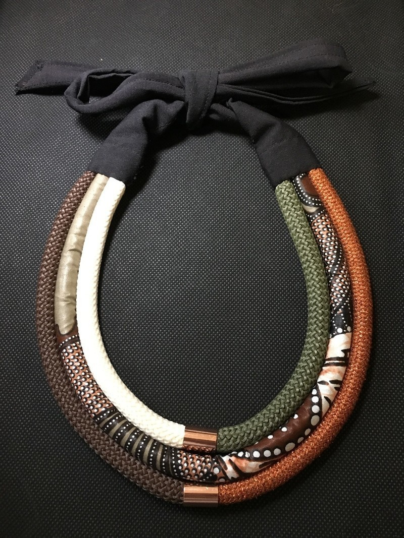 Strings and wax necklace by boutique-orixas - Mid-long ...
