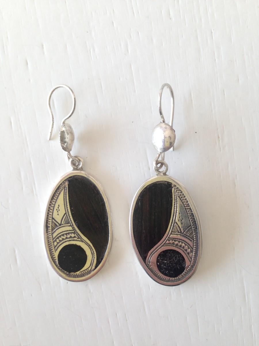 Tuareg Silver Earrings No.7
