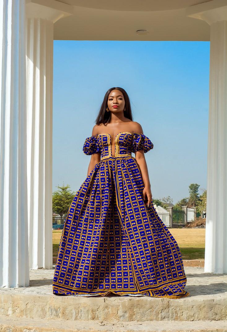 Royal Blue And Gold Plus Size Dress Ebay E0890 0ddec