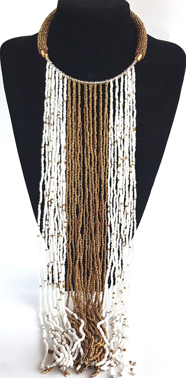 Maasai African stranded Beaded Necklace