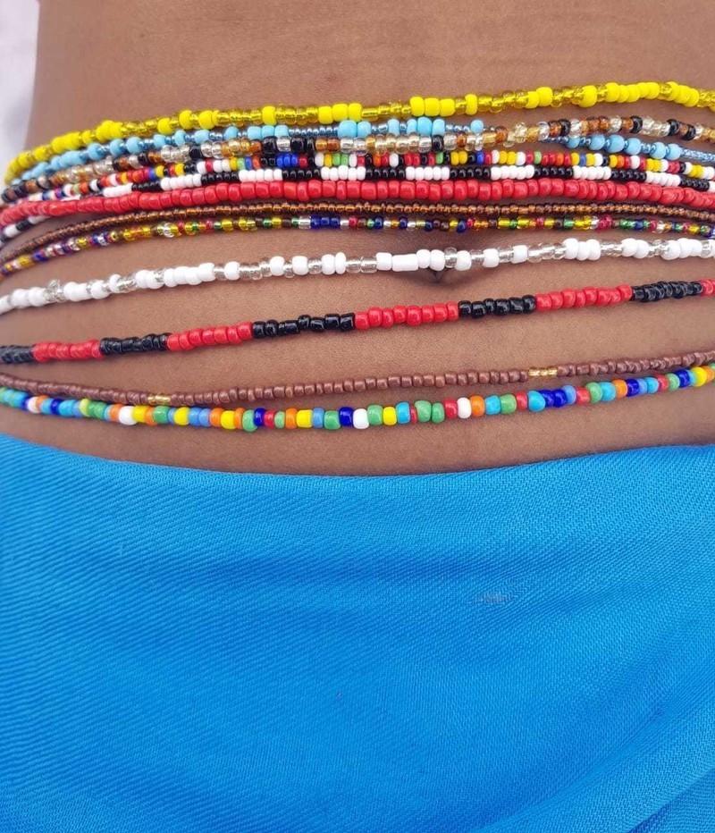 Stomach Beads African Waist Beads Hip Beads Waist Beads