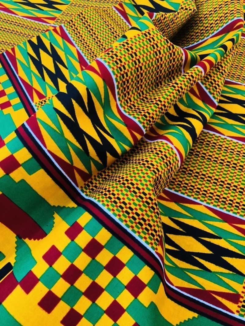 Kente African Wax Print Fabric By Shopenosaint Ankara Wax Print
