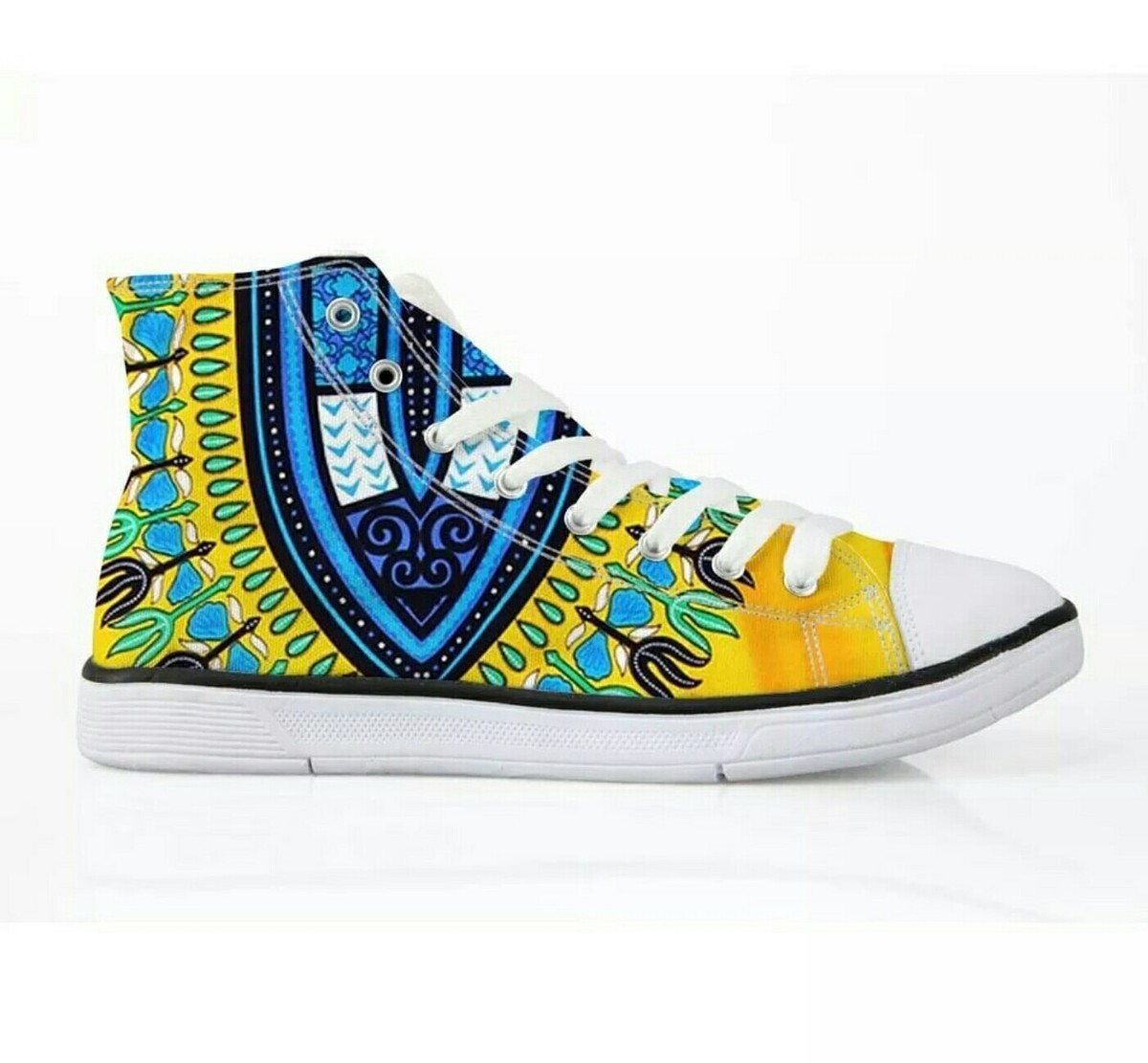 African Mixed Up High Top Trainers