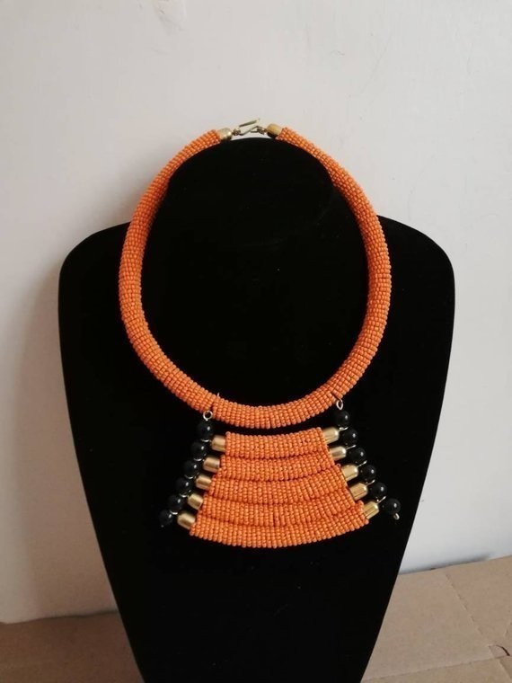 African beaded necklace|Beaded pendant necklace|Boho Necklace Maasai beads Christmas gift|For Her Maasai necklace|Women jewelry