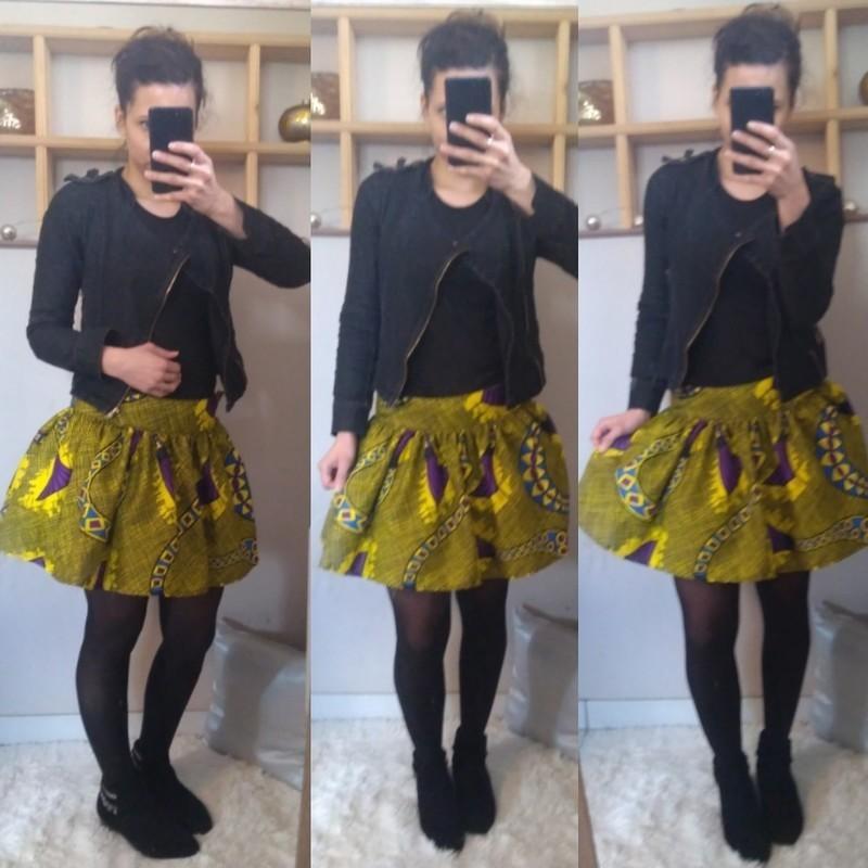 Jupe Courte Bouffante Par Rapha Elle Couture Jupes Mi Longues Afrikrea