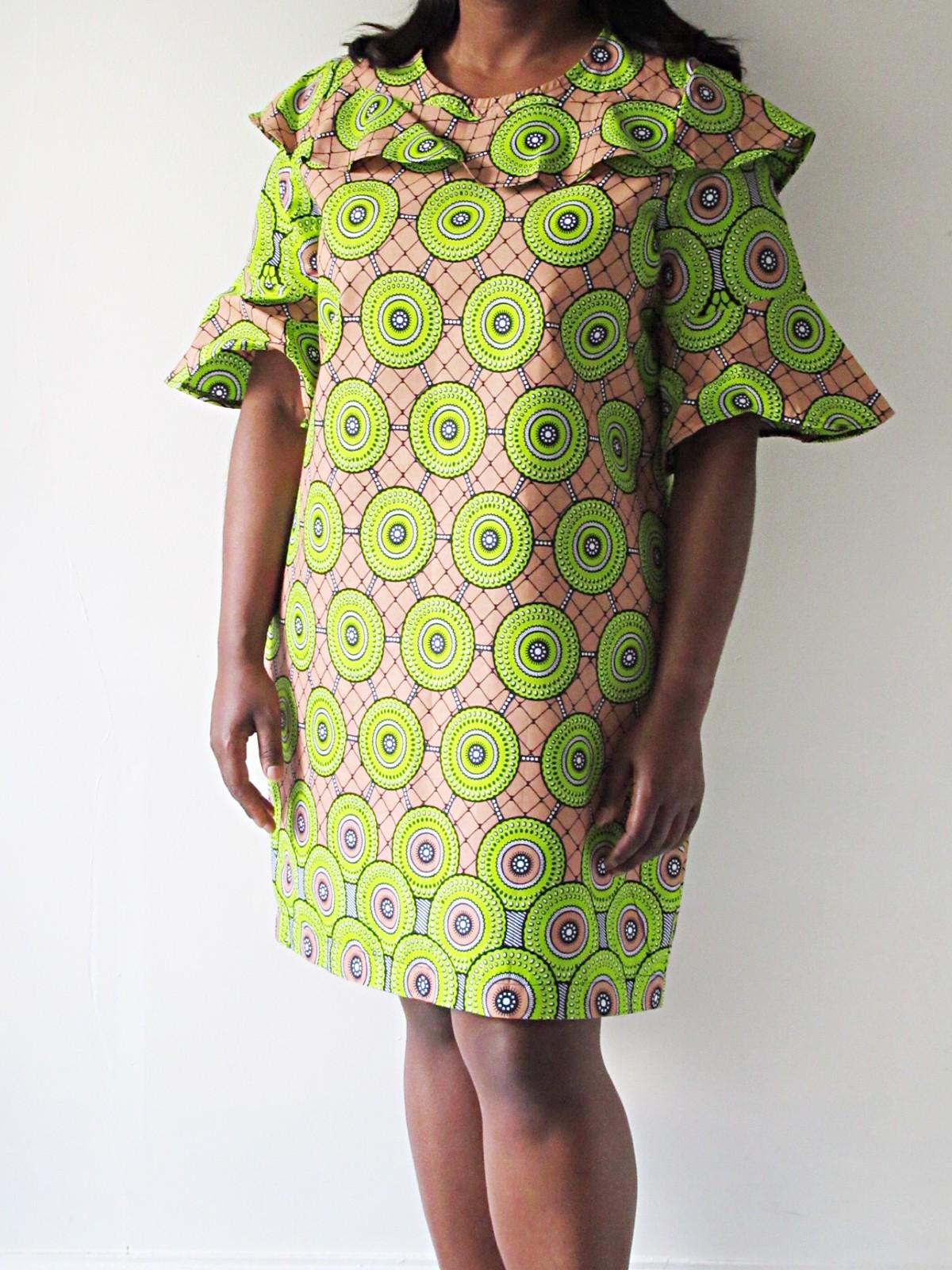 African wax print short