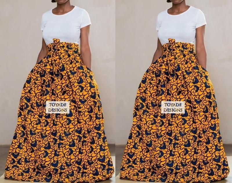 Ankara flare skirt Free shipping Ankara dresses
