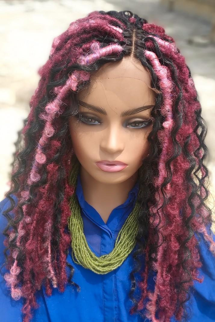 Braids Wig Wig For Black Women Closure Wig Faux Locs Butterfly Locs Fr Afrikrea