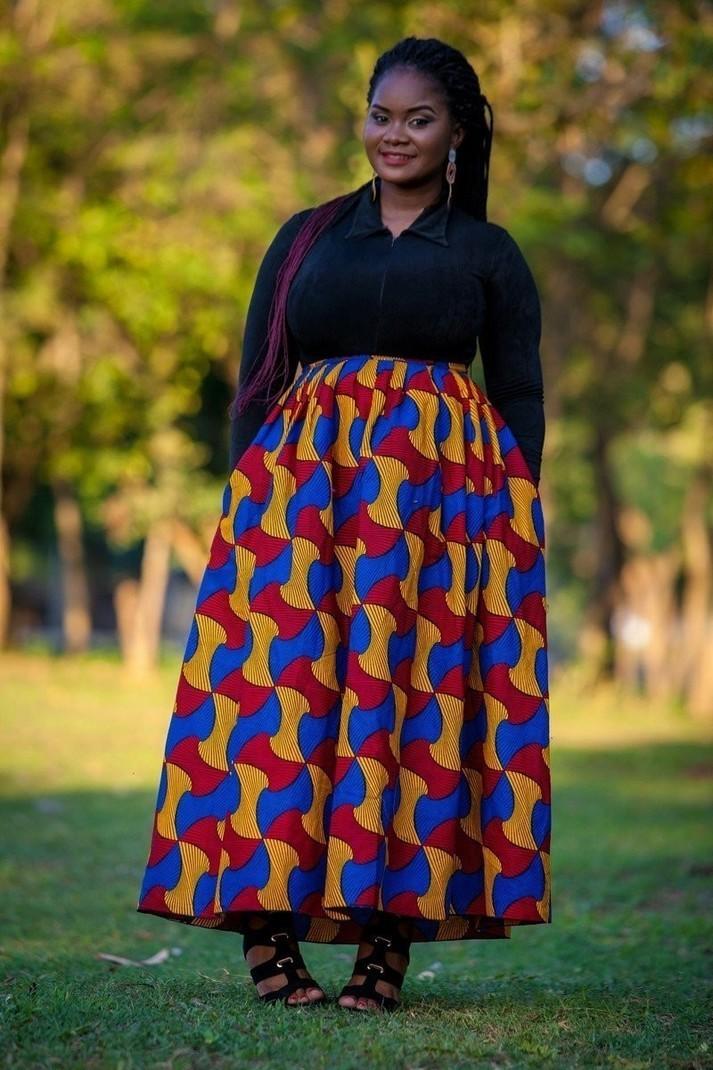 Becky African top and skirt  short skirt  African skirt  African skirt for women