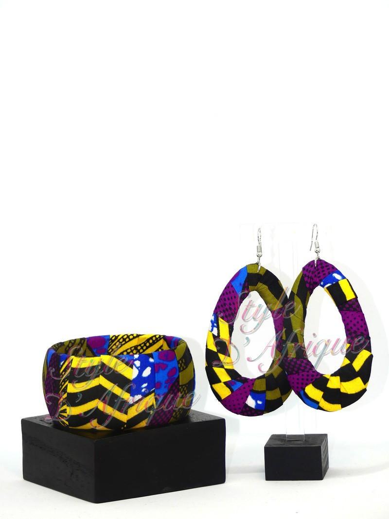 Necklace  Bracelet Won Bina  wax set  blue and yellow