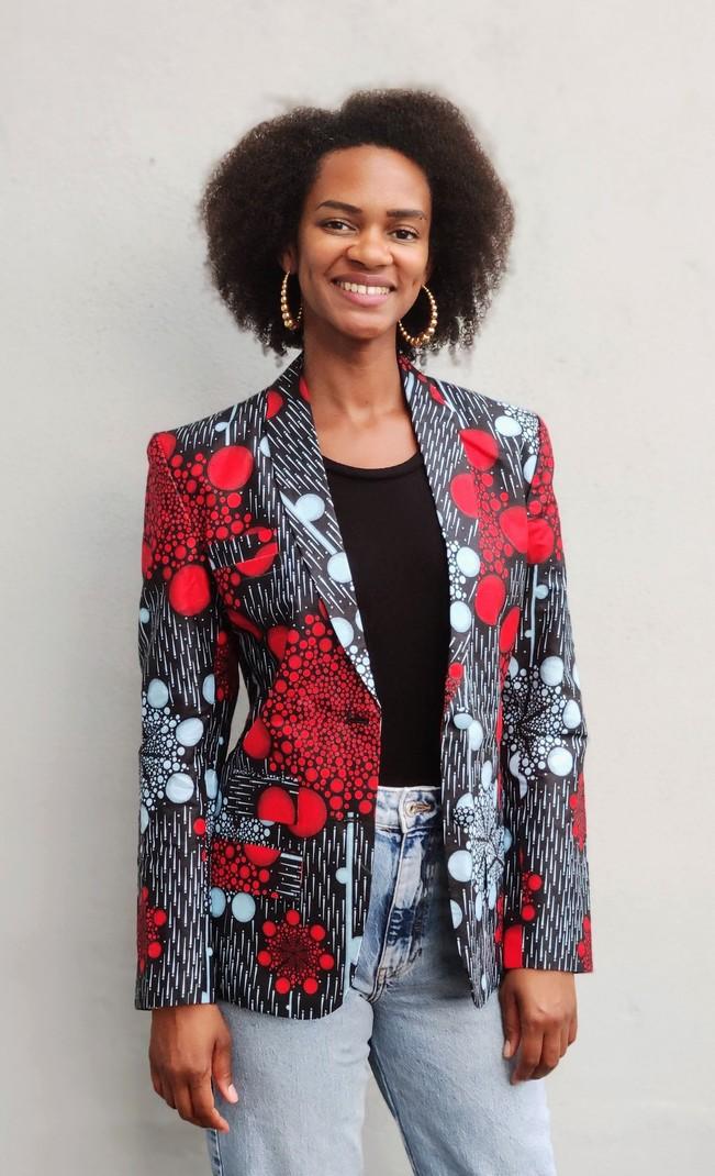 Veste Blazer Femme En Tissu Africain Wax Par Tutty Blazers Afrikrea