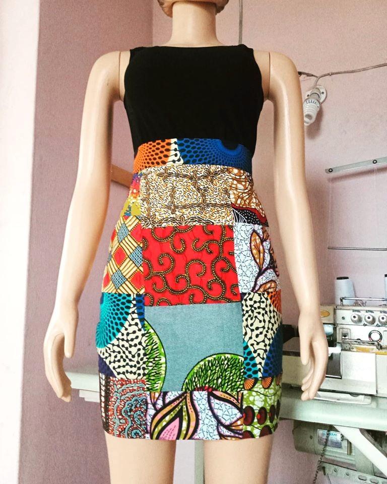 Glamzbyama African Wax Print Patch Skirt Ankara Skirt Mini Skirt By Gl Afrikrea