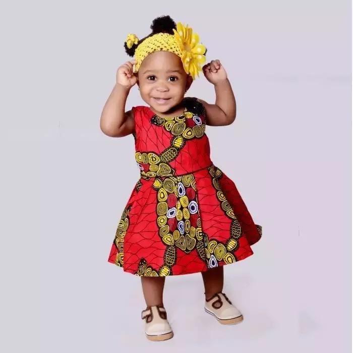 Toddler dresses Ankara dresses Ankara Baby Girls Dress With Head Band African girl dress African Print Dress African Clothing Dresses