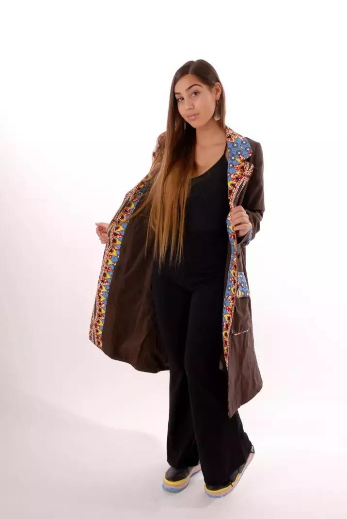 Manteau en laine et wax BOUTIQUE DE WAX | BOUTIQUE | Mode