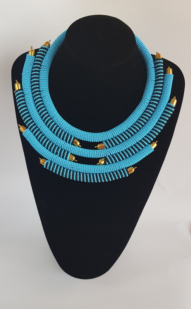 Colorful beads necklace African leather necklace Beaded colar necklace necklace for women handmade necklace Jewelry from Africa