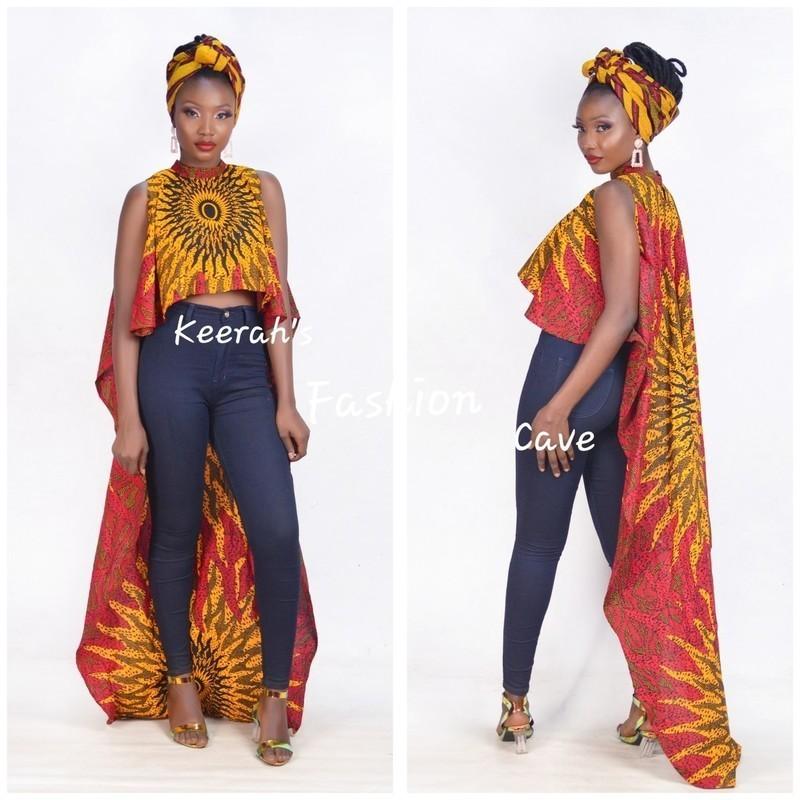 african print high low tops,Ankara