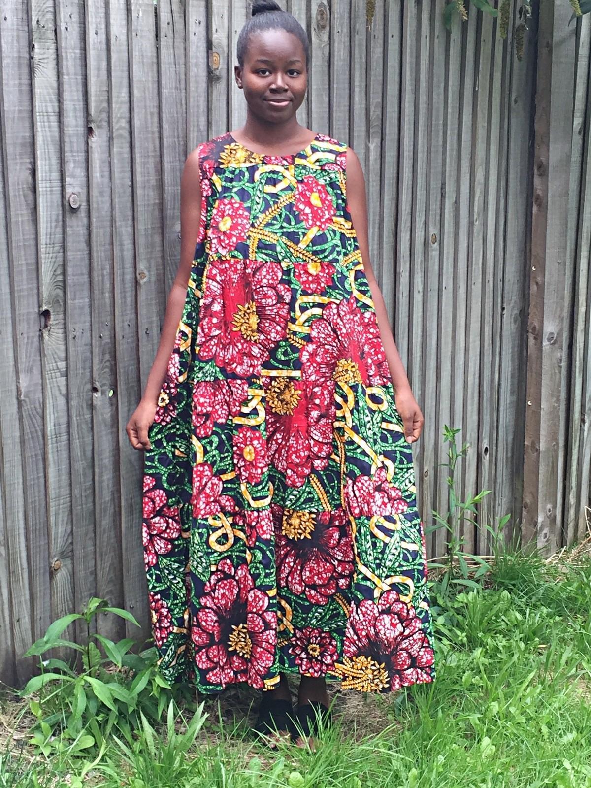 African print dress  Ankara fabrics dressAfrican clothing  wax print