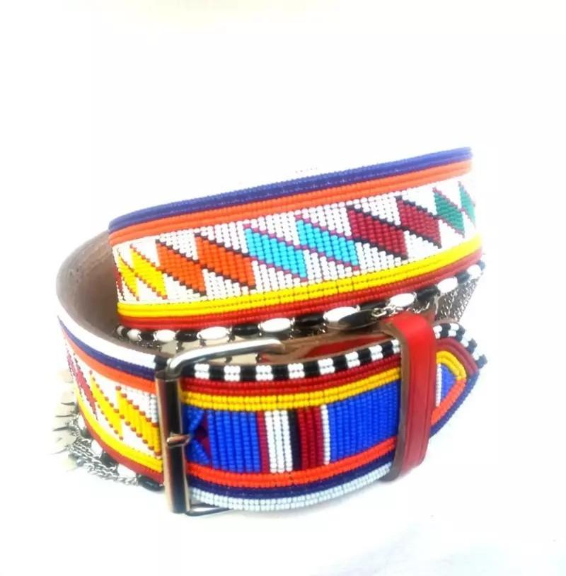 unisex belt Kenya leather belt men belt leather belt Belt Masai belt Africa leather belt