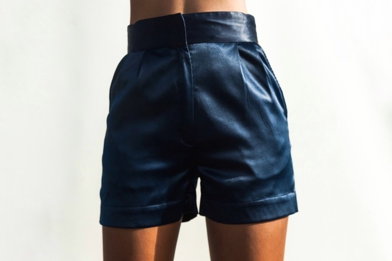Satin high waisted shorts