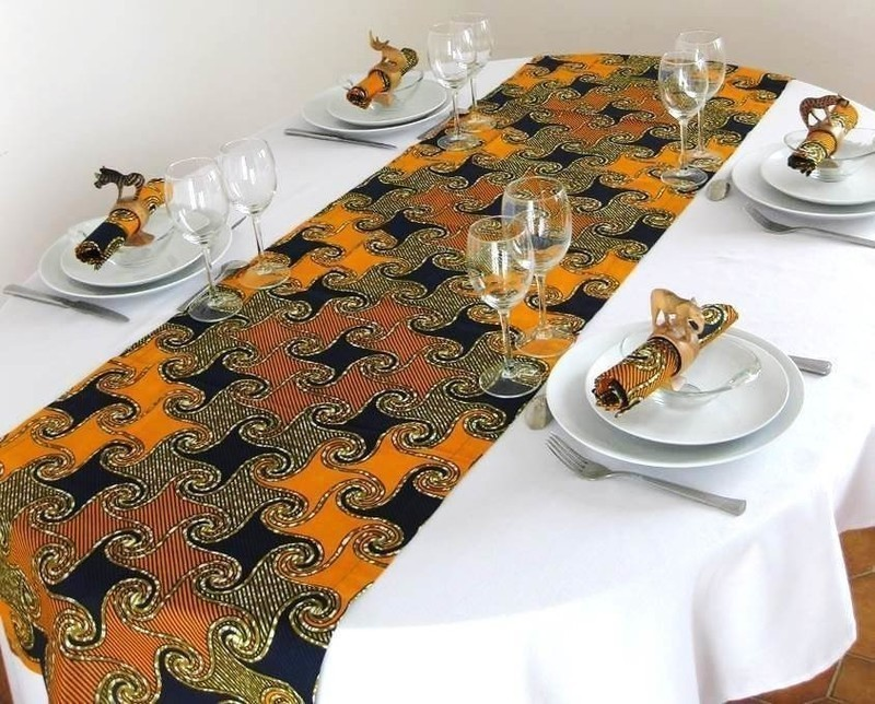 Table Runner In Wax By Nadivaretco Table Cloth Amp Sets Afrikrea