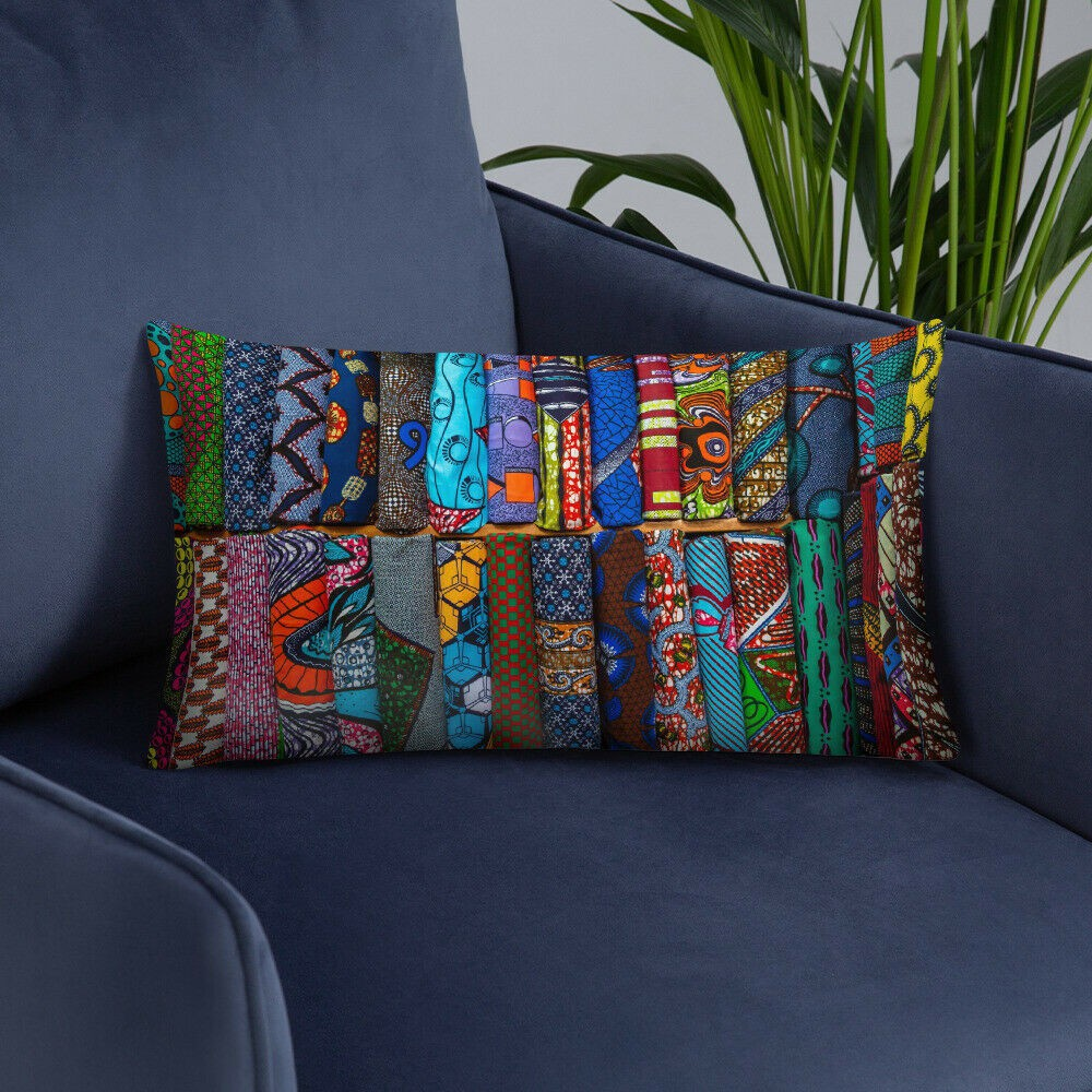 African Wax Print Basic Pillow For Home Decor By Alakondre Cushion Afrikrea