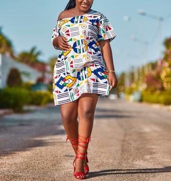 Robe En Pagne Wax Euphoria Par Dakrol Robes Courtes Afrikrea