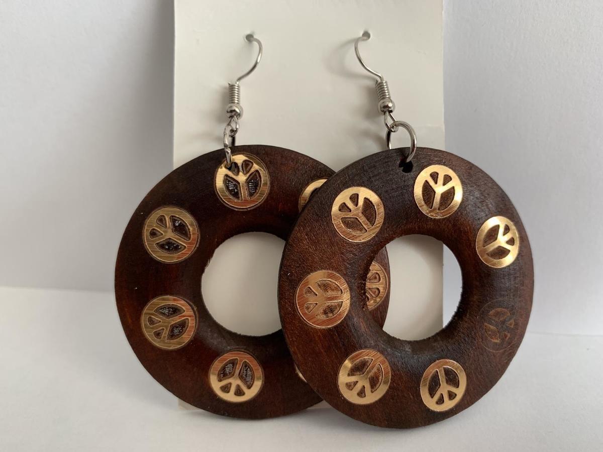 African Wooden Earrings