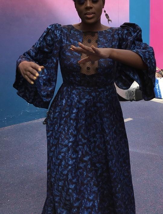 Long Marlyne Dress Indigo Blue By Amakatty Long Dresses Afrikrea