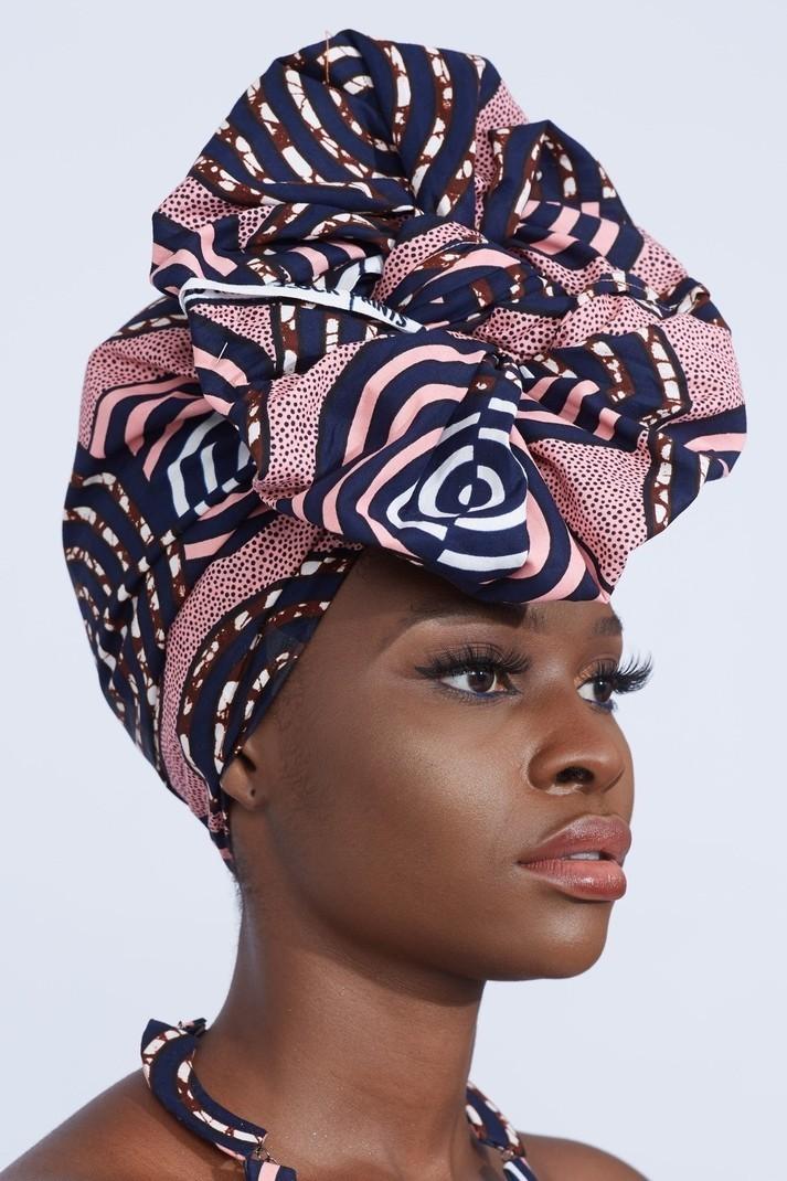 Machine Weaven Turban Hair Accessory Ankara Print African Head wrap