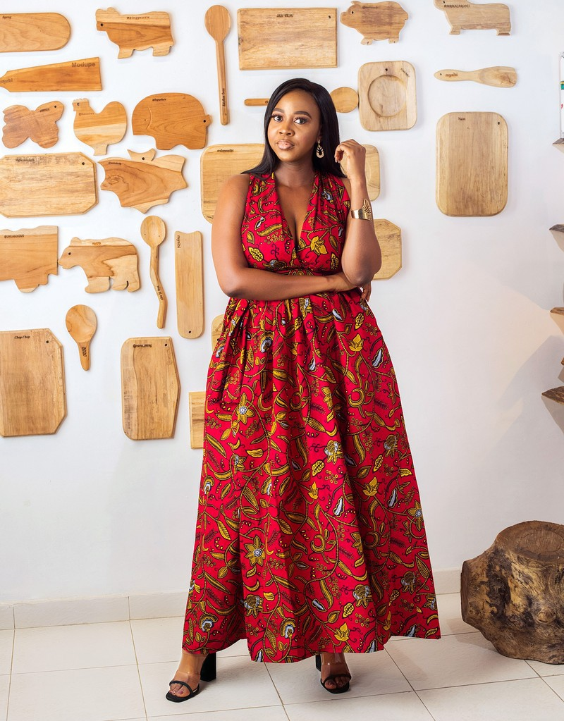 Ankara infinity dress African print dress Ankara long dress