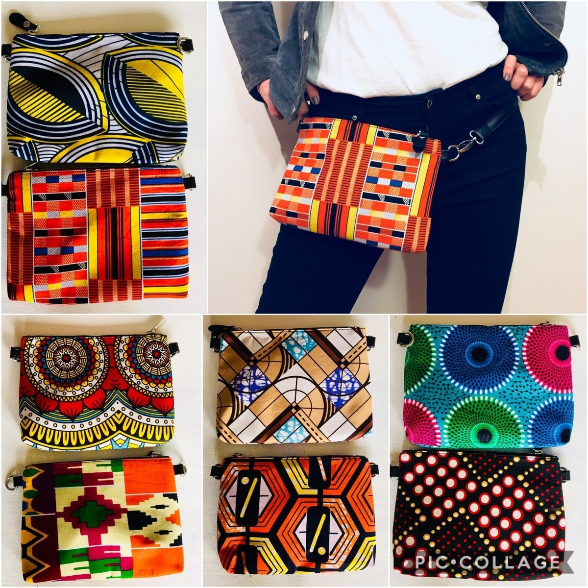 Large African print bum bagfannny pack 04