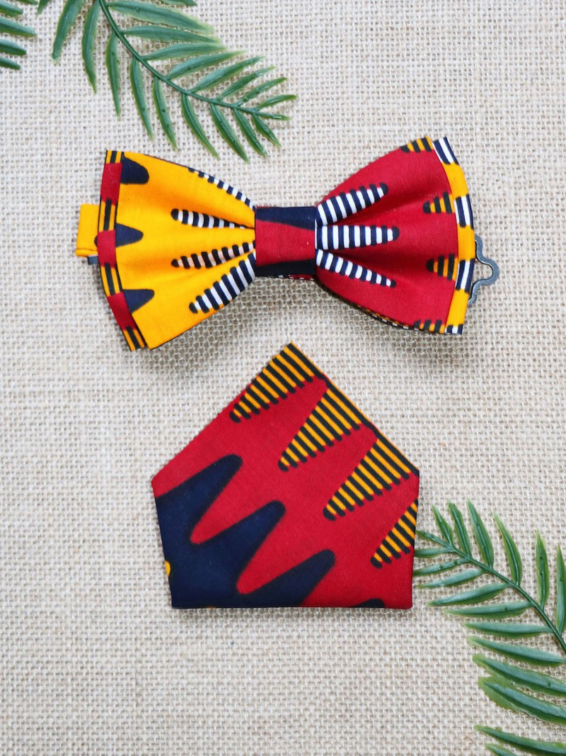 Wax batik red wax accessories Slim knot wax knot wax butterfly knot handkerchief African knot wax fabric men/'s accessories