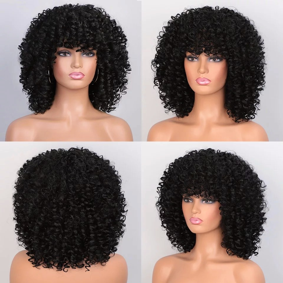 14 Inches Kinky Curly Wig By Oden Fashion Empire Wigs Afrikrea