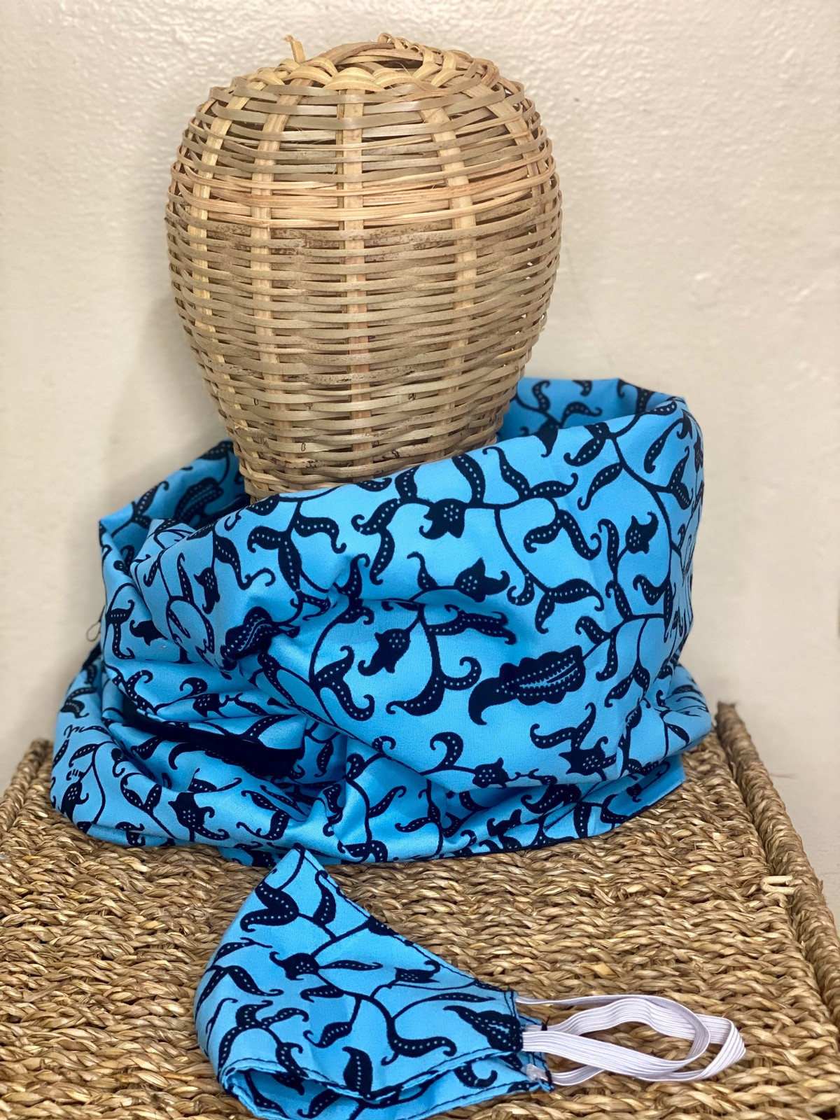Blue Nature Snood Muffler By Usineapagne Infinity Scarves Afrikrea