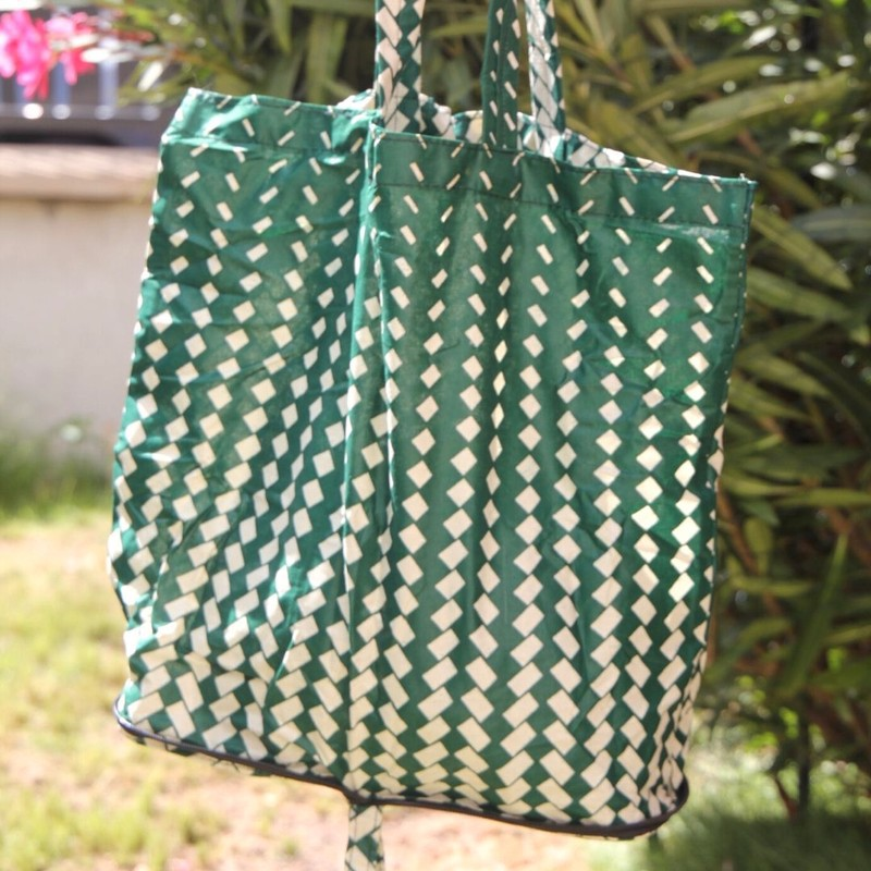 Mini sac Aya Ksual Greeny wax Tote bags et sacs de plage vert, wax