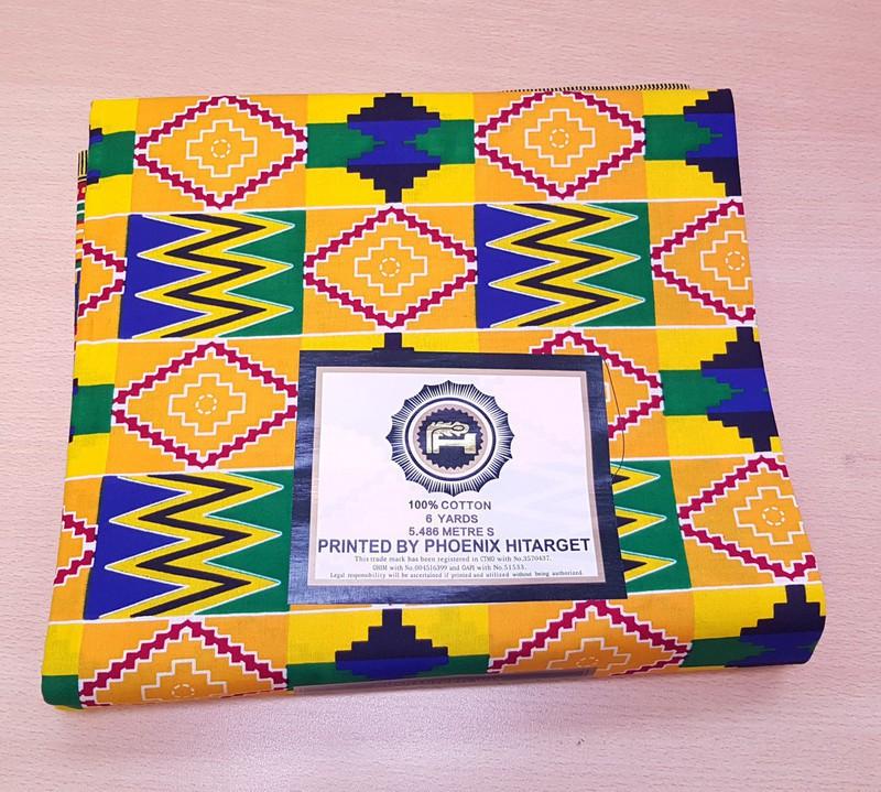 African Cotton Kente Dashiki  Print Fabric Ankara Wax 6 Yards or 5.5 meters