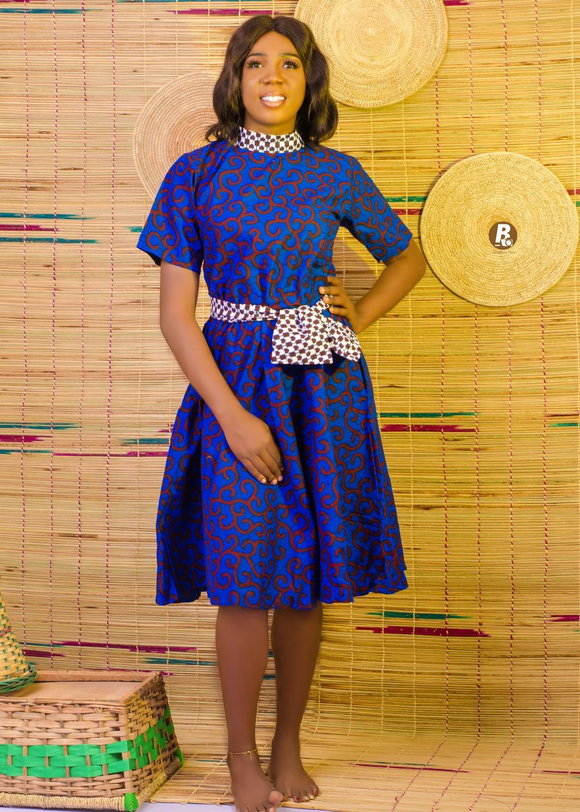 Colourful Circles Ankara Dress