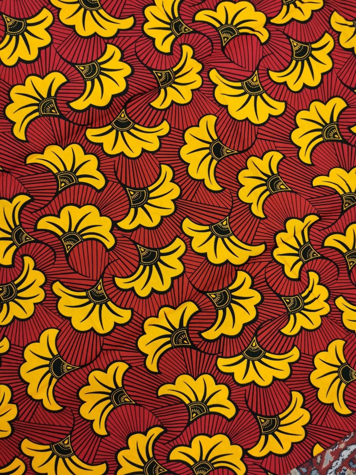 coupon cloth 45 cm x 115 cm Ankara african wax fabric