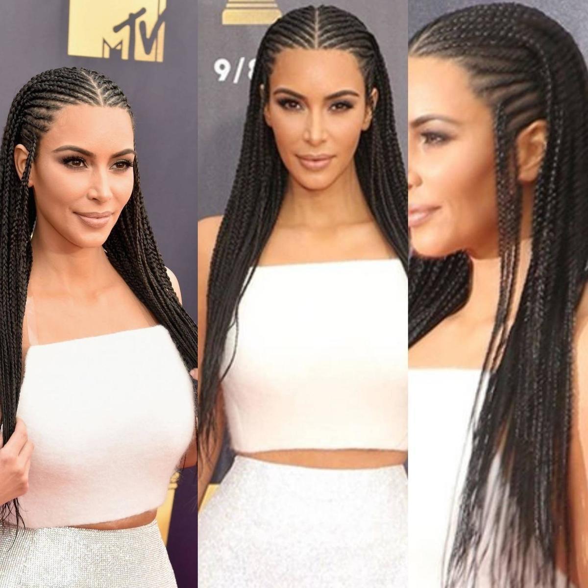 Kim Inspired Braided Wig Cornrow Wig Ghana Weaving Wig By House