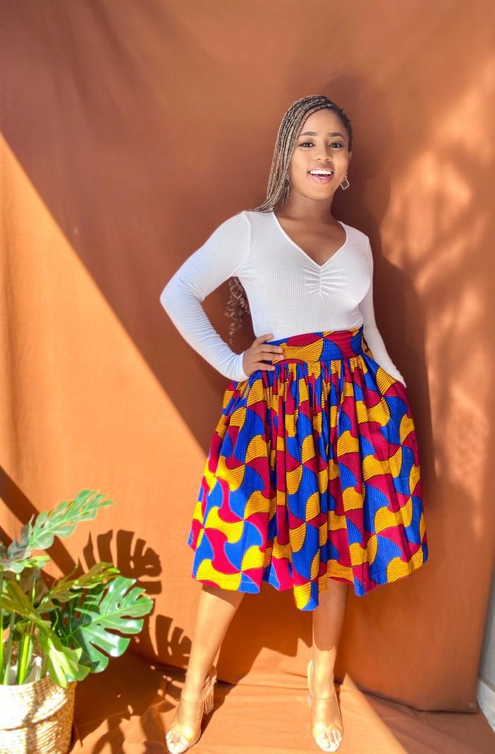 African Print Skirt African Skirt Jupe Wax Jupe Langue Wax Mini Skirt T Afrikrea