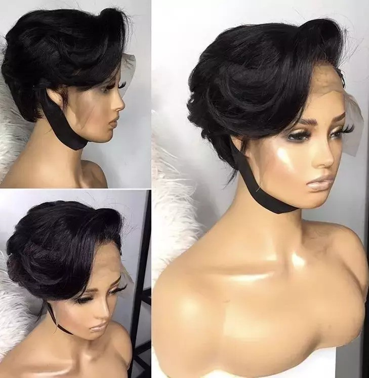 Human Hair Lace Frontal Pixie Cut Wig Ready To Wear By Slayedbyterrie Afrikrea