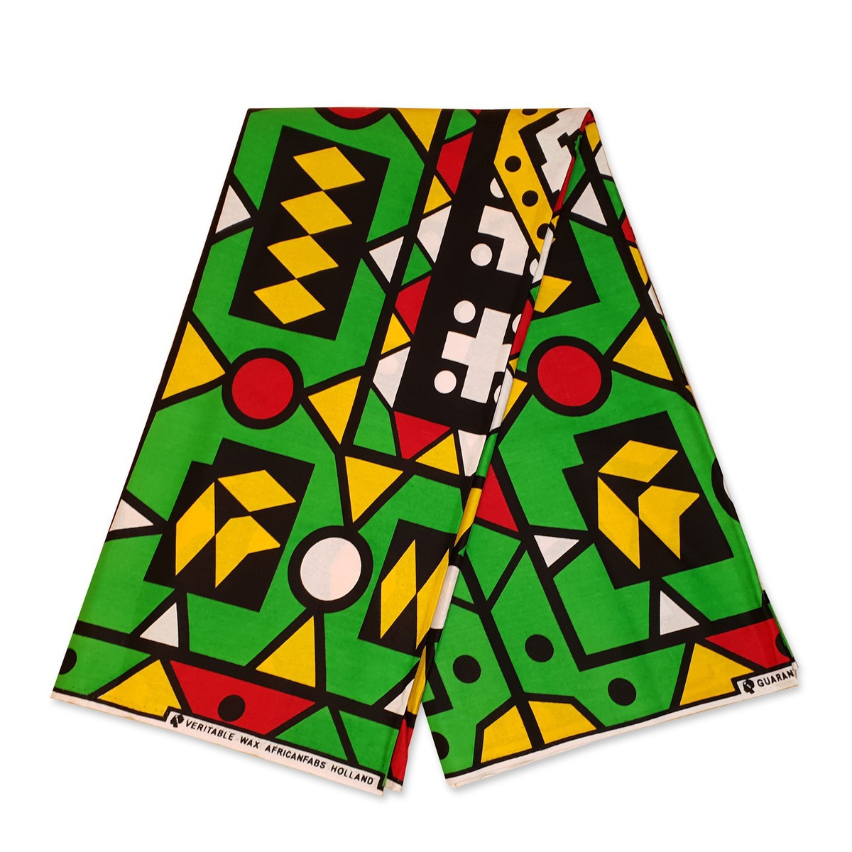 African Adire Pattern Fabric  Traditional Printed Pattern  6 Yards 2 Fabrics