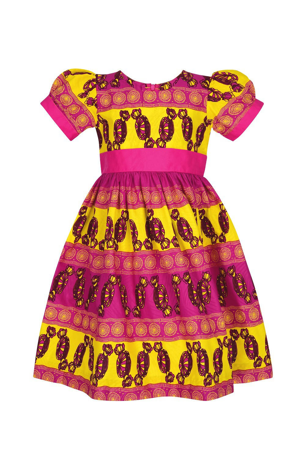 Quilted fabric lined in laminated fabric zipper closure. customizable Dress handkerchief Anna for children