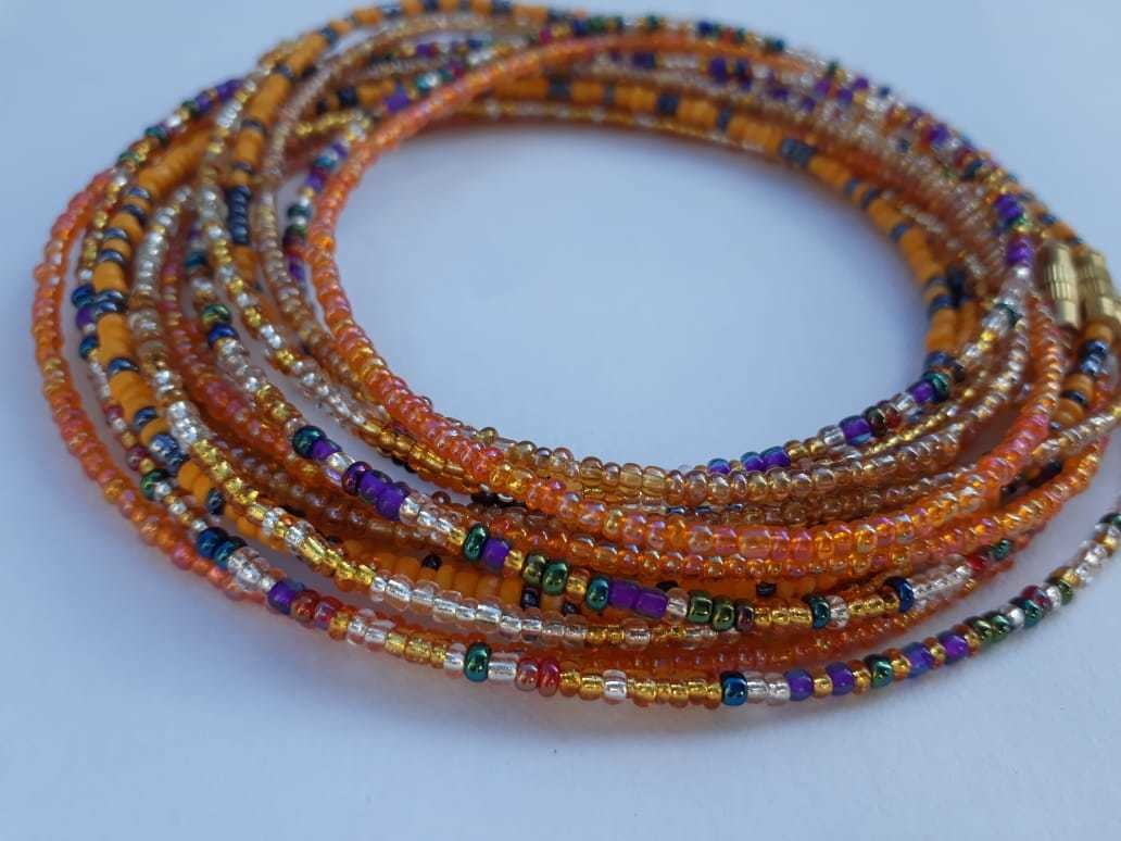 Set of 4 green  waist beads,waist jewelry,waist beads,African waist beads,colorful waist beads,waist beads for women belly beads,belly chain